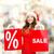 mujer · ayudante · sombrero · por · ciento · signo - foto stock © dolgachov