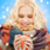 aantrekkelijk · skiër · drinken · warme · drank · glimlachend · jonge - stockfoto © dolgachov