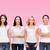 uśmiechnięty · kobiet · różowy · rak · piersi · świadomość - zdjęcia stock © dolgachov