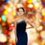 feliz · mulher · jovem · brilhante · vestir - foto stock © dolgachov