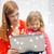 feliz · madre · hija · ordenador · portátil · familia · ninos - foto stock © dolgachov