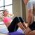 kadın · personal · trainer · oturmak · spor · salonu · uygunluk · spor - stok fotoğraf © dolgachov