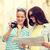 uśmiechnięty · nastolatki · Pokaż · kamery · turystyki · podróży - zdjęcia stock © dolgachov