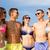 sorridente · amigos · óculos · de · sol · verão · praia · amizade - foto stock © dolgachov
