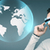 férfi · futurisztikus · 3d · szemüveg · emberek · technológia · jövő - stock fotó © dolgachov
