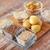 grain · verre · bols · table · en · bois · alimentaire - photo stock © dolgachov