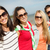 feliz · las · mujeres · jóvenes · playa · verano · vacaciones - foto stock © dolgachov