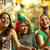 sonriendo · femenino · amigos · vino · club · nocturno - foto stock © dolgachov