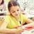 group of school kids writing test in classroom stock photo © dolgachov