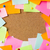 close up of blank paper stickers on cork board stock photo © dolgachov
