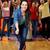 heureux · jeune · femme · balle · bowling · club - photo stock © dolgachov