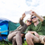 пару · смартфон · путешествия · походов · технологий - Сток-фото © dolgachov