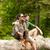gülen · çift · doğa · seyahat · yürüyüş · turizm - stok fotoğraf © dolgachov