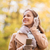 женщину · прослушивании · mp3 · ходьбе · осень · парка - Сток-фото © dolgachov