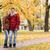 caminhada · outono · parque · homem · madeira - foto stock © dolgachov