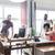 feliz · criador · equipe · escritório - foto stock © dolgachov