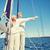idős · pár · élvezi · szabadság · vitorla · csónak · tenger - stock fotó © dolgachov
