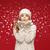 少女 · 帽子 · スカーフ · 美人 · 見える · のような - ストックフォト © dolgachov