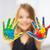 Creative · девочку · краской · центр - Сток-фото © dolgachov