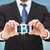 férfi · bitcoin · mobiltelefon · közelkép · kezek · érme - stock fotó © dolgachov