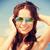 portre · mutlu · genç · kız · güneş · gözlüğü · yeme - stok fotoğraf © dolgachov