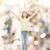 gülen · genç · kız · kaldırdı · ellerini · mutluluk · özgürlük · gelecek - stok fotoğraf © dolgachov