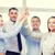 feliz · equipo · de · negocios · máximo · de · cinco · oficina · éxito · negocios - foto stock © dolgachov