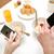 casal · café · da · manhã · casa · comida · alimentação - foto stock © dolgachov