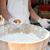 közelkép · szakács · kezek · húsgombócok · utca · főzés - stock fotó © dolgachov
