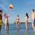 gelukkig · gezin · spelen · opblaasbare · bal · strand · familie - stockfoto © dolgachov