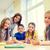 grupy · szkoły · dzieci · piśmie · test · klasie - zdjęcia stock © dolgachov