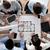 business · team · blauwdruk · zakenlieden · architectuur - stockfoto © dolgachov