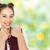 happy teenage girl showing thumbs up stock photo © dolgachov