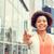 счастливым · молодые · афроамериканец · деловая · женщина · город · деловые · люди - Сток-фото © dolgachov