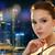 belle · jeunes · asian · femme · boucle · beauté - photo stock © dolgachov