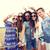 hippie · amici · smartphone · stick · estate · vacanze - foto d'archivio © dolgachov