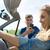 mutlu · çift · araba · yolculuk · genç - stok fotoğraf © dolgachov