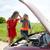 femme · voiture · cassée · rouge · triangle · clé · mains - photo stock © dolgachov