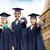 boldog · diákok · agglegények · mutat · ujj · oktatás - stock fotó © dolgachov