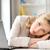 zmęczony · kobieta · interesu · student · laptop · edukacji · działalności - zdjęcia stock © dolgachov