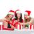 gülen · kadın · yardımcı · hediye · kutuları - stok fotoğraf © dolgachov