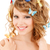 nő · pillangók · haj · kép · boldog · szexi - stock fotó © dolgachov
