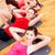 グループ · 笑みを浮かべて · 女性 · 行使 · ジム · フィットネス - ストックフォト © dolgachov