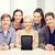 glimlachend · studenten · naar · scherm · onderwijs · technologie - stockfoto © dolgachov