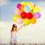 boldog · lány · színes · léggömbök · nyár · ünnepek · ünneplés - stock fotó © dolgachov