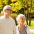 starszy · para · miasta · parku · rodziny · wiek · turystyki - zdjęcia stock © dolgachov