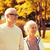 senior couple in city park stock photo © dolgachov