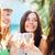 meninas · champanhe · óculos · verão · férias · férias - foto stock © dolgachov