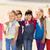 group of happy kids on children playground stock photo © dolgachov
