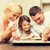 happy family in making cookies at home stock photo © dolgachov